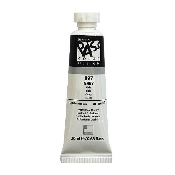 Постерна боя на водна основа PASS COLOR, 20 ml Постерна боя на водна основа PASS COLOR, 20 ml, Grey