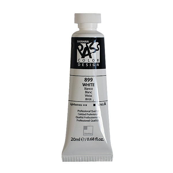 Постерна боя на водна основа PASS COLOR, 20 ml Постерна боя на водна основа PASS COLOR, 20 ml, White