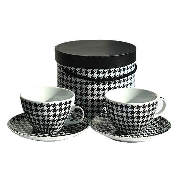 Cappuccino Cup Set GB Houndstooth