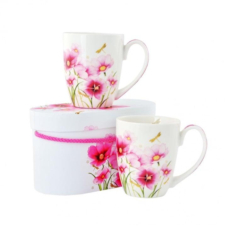Алуминиево фолио, 20 х 30 см / 0,15 мм, 3 бр., двуцветно - червено и сребристо Комплект порцеланови чаши Flowers & Dragonfly, 2 бр.