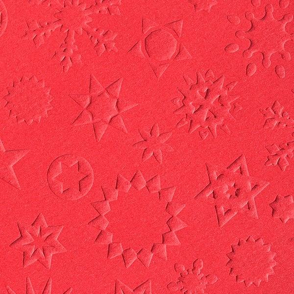 Преге картон, 220 g/m2, 50 x 70 cm, 1л, звезди червен