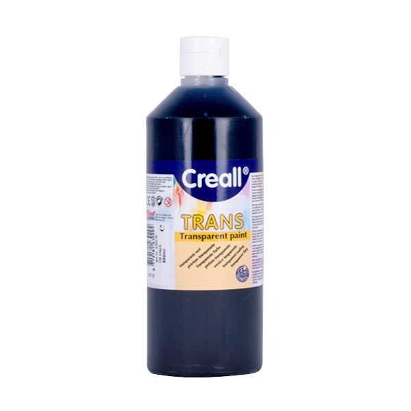 Прозрачни водни бои CREALL TRANS, 500 ml Прозрачна водна боя CREALL TRANS, 500 ml, черна