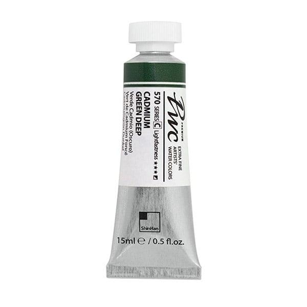 Водна боя Profesional Water Color, 15 ml Водна боя PWC, 15 ml, CADMIUM GREEN DEEP