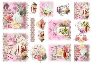 Декупажна тишу хартия, TEA TIME, 35 x 50 cm