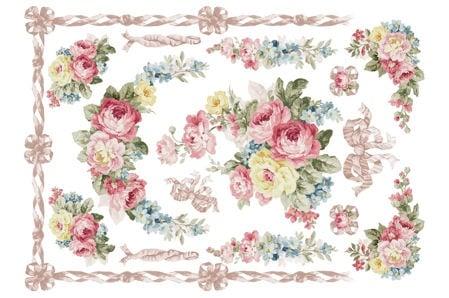 Декупажна тишу хартия, ROMANTIC, 35 x 50 cm