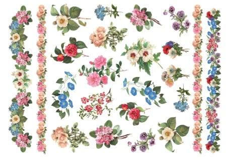 Декупажна тишу хартия, JARDIN, 35 x 50 cm