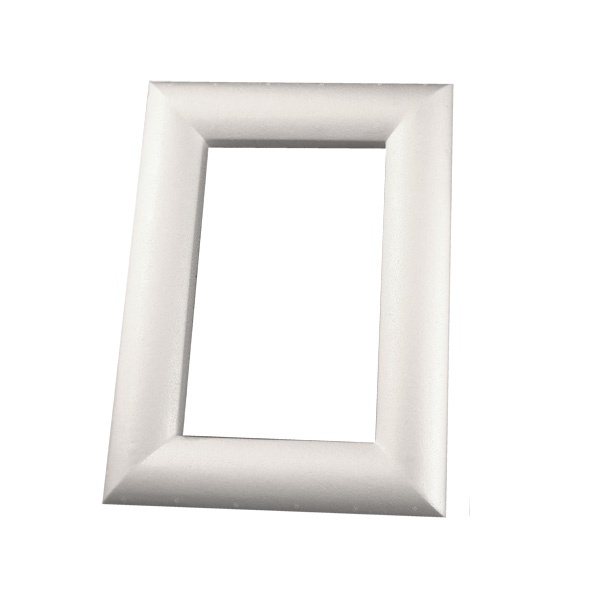 Рамка декоративна от стиропор, бял, 320 x 240 mm