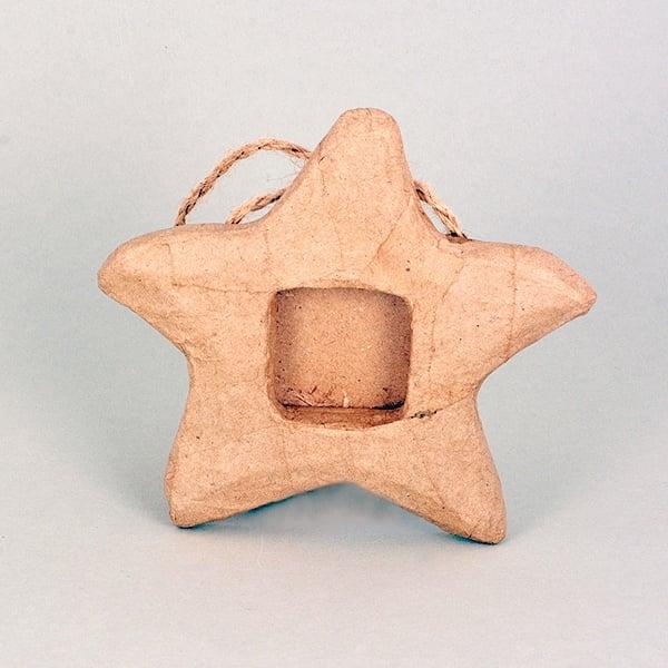 Рамка - морска звезда от папие маше, 13,5 x 9 x 2,5 cm