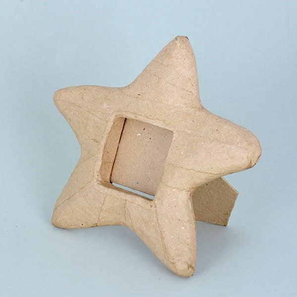 Рамка - морска звезда от папиемаше, 17 x 15 x 2 cm