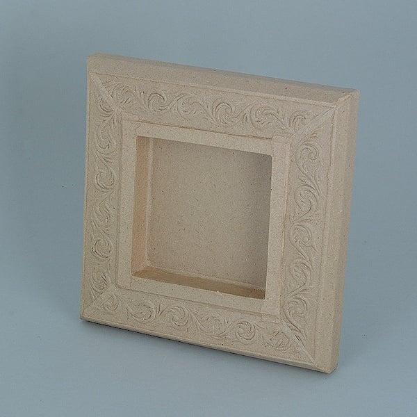 Рамка от папие маше с орнаменти, квадрат Рамка от папие маше с орнаменти, квадрат, 20 x 20 x 2,5 cm / 10 x 10 x 2 cm