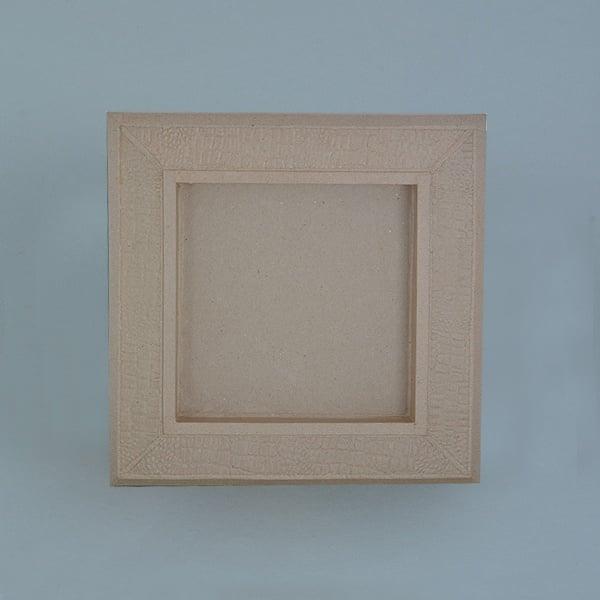 Рамка от папие маше с орнаменти, правоъгълник Рамка от папие маше с орнаменти, правоъгълник, 33 x 33 x 3,5 cm / 21 x 21 x 3 cm,
