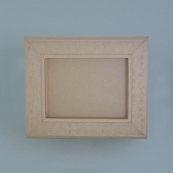 Рамка от папие маше с орнаменти, правоъгълник Рамка от папие маше с орнаменти, правоъгълник, 34,5 x 28,5 x 2,5 cm