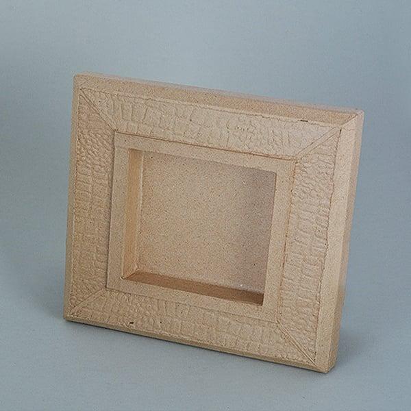 Рамка от папие маше с орнаменти, правоъгълник Рамка от папие маше с орнаменти, правоъгълник, 34,5 x 28,5 x 2,5 cm / 21,5 x 15 x 2 cm