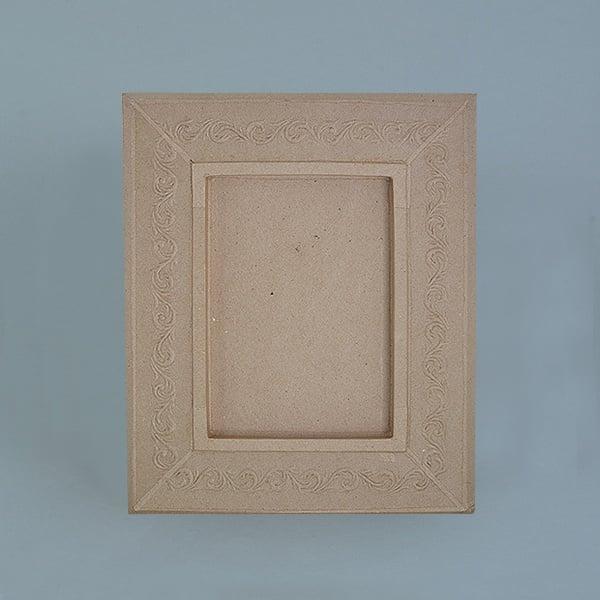 Рамка от папие маше с орнаменти, правоъгълник Рамка от папие маше с орнаменти, правоъгълник, 34,5x28,5x2,5 cm /21x15x2 cm