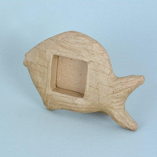 Рамка - риба от папие маше, 17,5 x 11 x 2 cm