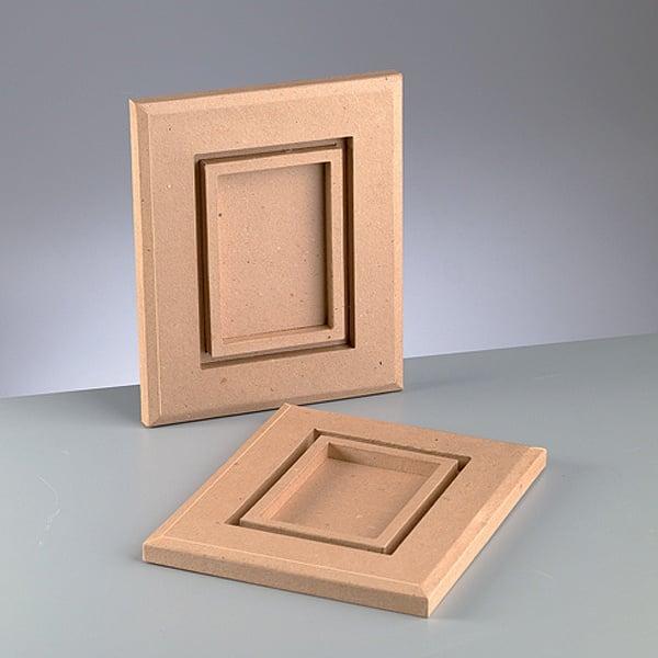 Рамка за картина от папие маше, правоъгълник, 10 x 15 cm, 29 x 24 x 2 cm