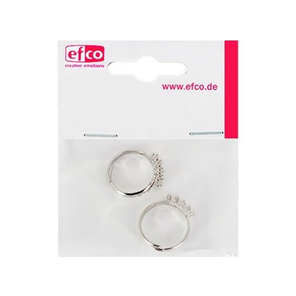 Регулируем пръстен с 10 халки, ф 16 - 18 mm, 2 броя, сребрист