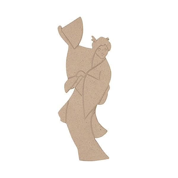 Декоративна фигура RicoDesign, ГЕЙША, MDF, 20/8/0.5 cm