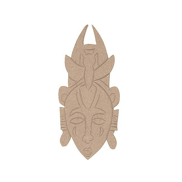 Декоративна фигура RicoDesign, АФРО.МАСКА, MDF, 18.5/8.5/0.5 cm