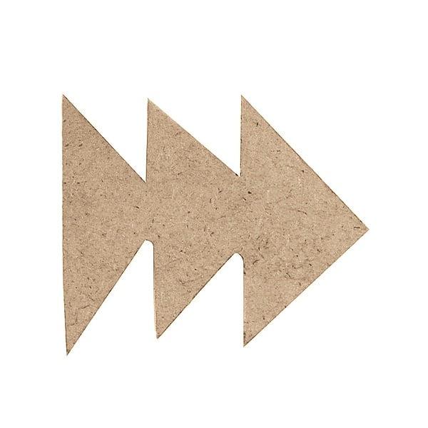 Декоративна фигура RicoDesign, ТРИ СТРЕЛКИ, MDF, 6/4.5/0.5 cm
