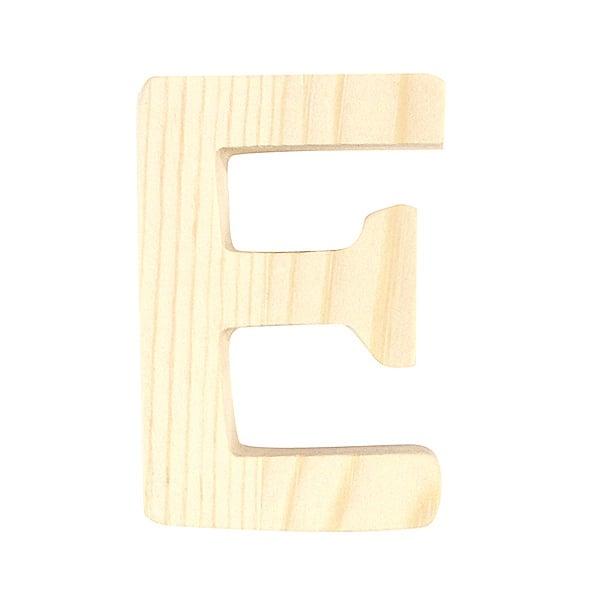 """Буква декоративна RicoDesign, """"E"""", натурално дърво, 8 cm"""