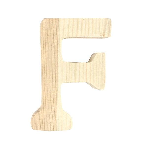 """Буква декоративна RicoDesign, """"F"""", натурално дърво, 8 cm"""