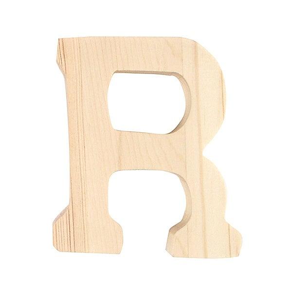 """Буква декоративна RicoDesign, """"R"""", натурално дърво, 8 cm"""