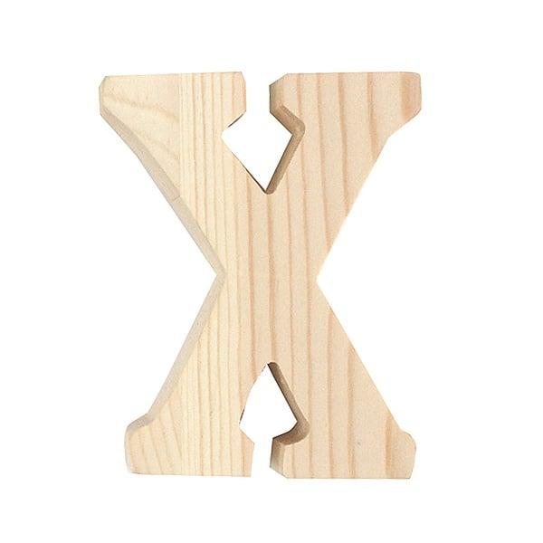 """Буква декоративна RicoDesign, """"X"""", натурално дърво, 8 cm"""