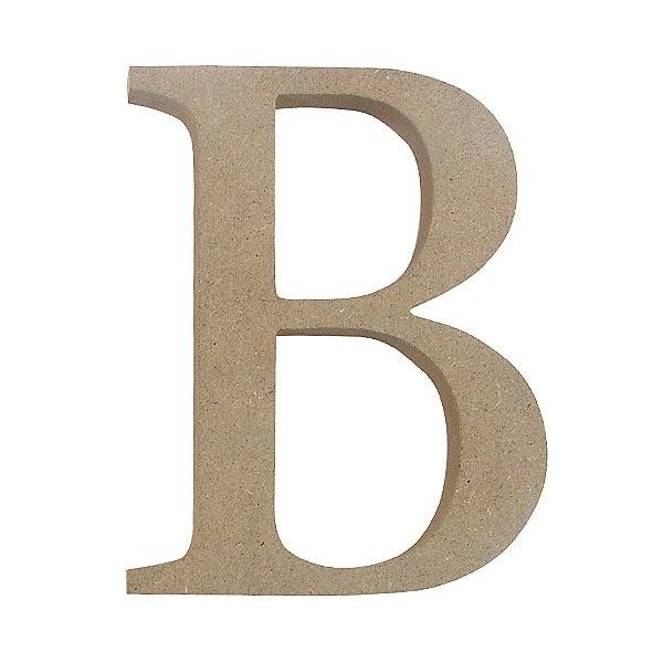 "Декоративен символ RicoDesign, ""B"", MDF, 4,1x3,2 cm"