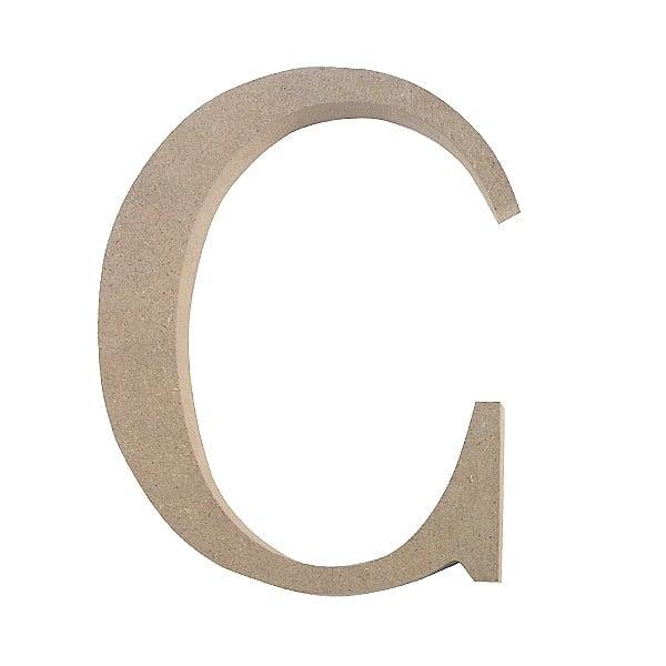 "Декоративен символ RicoDesign, ""C"", MDF, 4,1x3,3 cm"