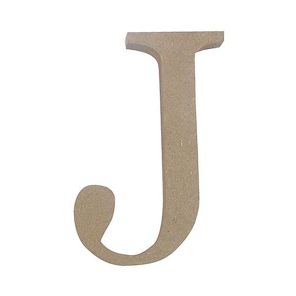 "Декоративен символ RicoDesign, ""J"", MDF, 4,1x3,0 cm"