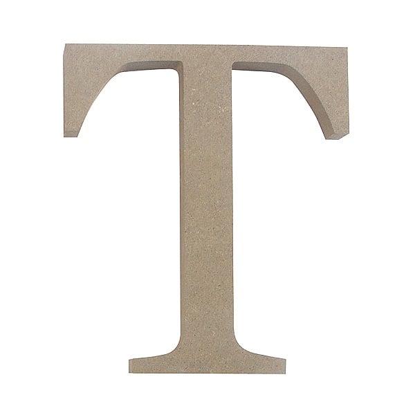 "Декоративен символ RicoDesign, ""T"", MDF, 4,1x3,6 cm"