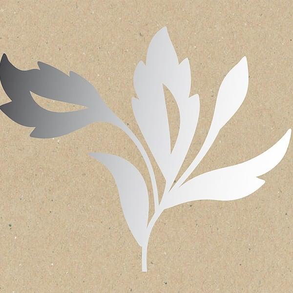 Декоративна фигура RicoDesign, ГОЛЯМА КЛОНКА l, SILVER, 15.5/14 cm