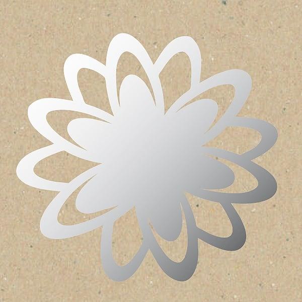 Декоративна фигура RicoDesign, ХРИЗАНТЕМА, SILVER, 11.5/9.5 cm