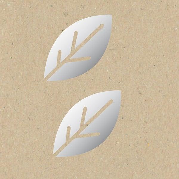 Декоративна фигура RicoDesign, ЛИСТ СТИЛИЗИРАН, SILVER, 7/9.5 cm