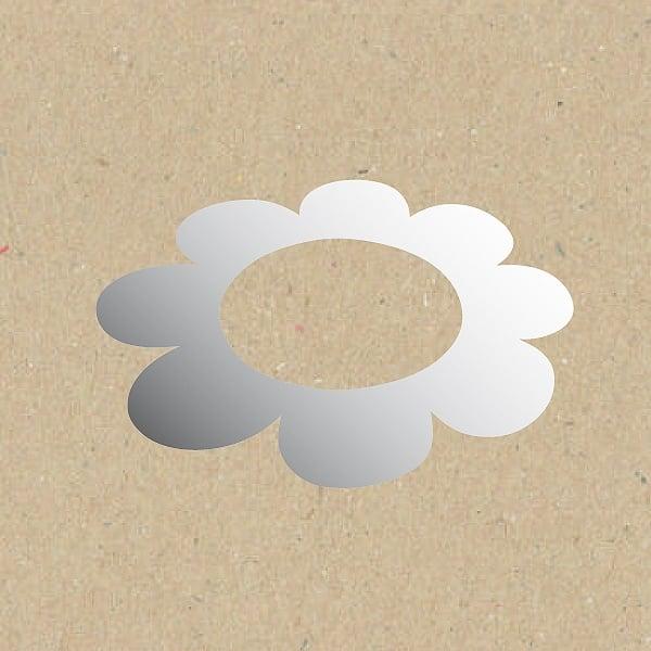 Декоративна фигура RicoDesign, ЦВЯТ С ГОЛЯМ ОТВОР, SILVER, 5.5/8.5 cm
