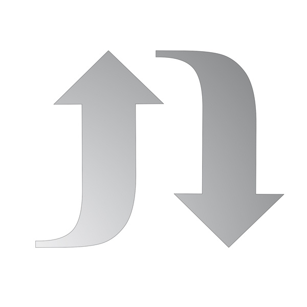 Декоративна фигура RicoDesign, СТРЕЛKИ L+R, SILVER,