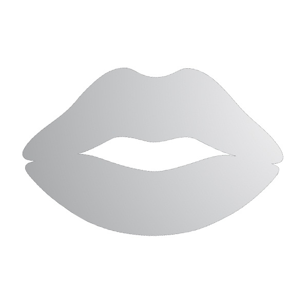 Декоративна фигура RicoDesign, ЦЕЛУВКА, SILVER, 6/9 cm