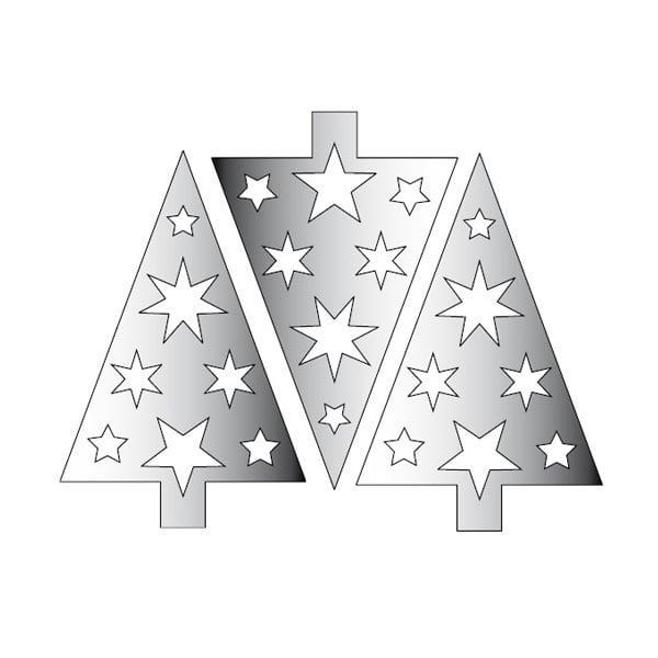 Декоративна фигура RicoDesign, КОЛЕДНО ДЪРВО, SILVER, 11.5/7.5 cm