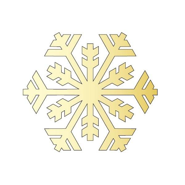 Декоративна фигура RicoDesign, КРИСТАЛ 1, GOLD, 8/12 cm