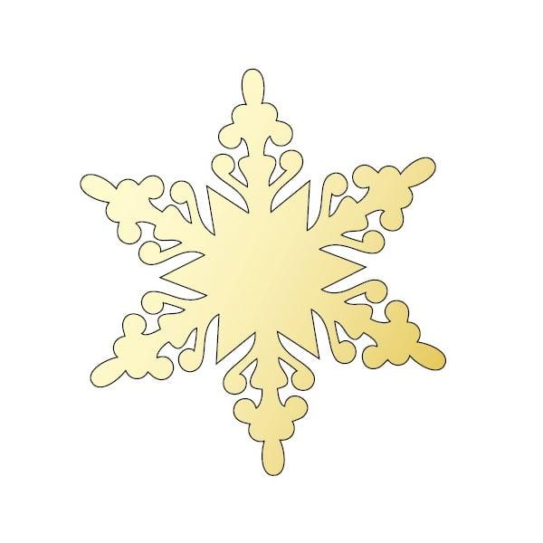 Декоративна фигура RicoDesign, КРИСТАЛ 2, GOLD, 8.1/9.3 cm