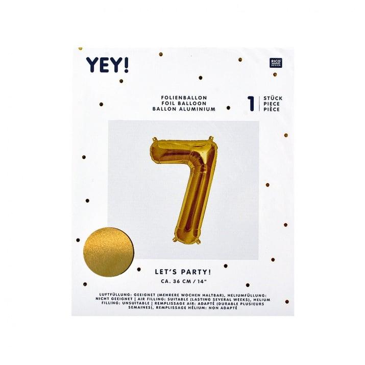 Фолиев балон, 36 cm, злато Фолиев балон, цифра 7, 36 cm, злато