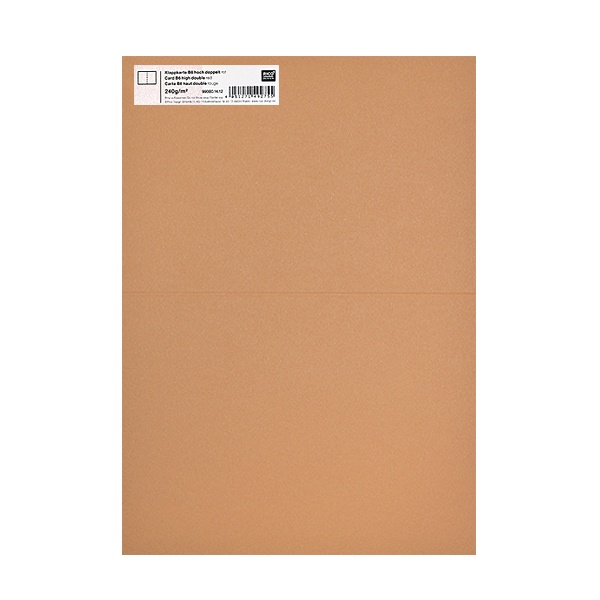 Картичка цветен картон RicoDesign, PAPER POETRY, HB6, 285g Картичка цветен картон RicoDesign, PAPER POETRY, HB6, 240g, CAPPUCINO