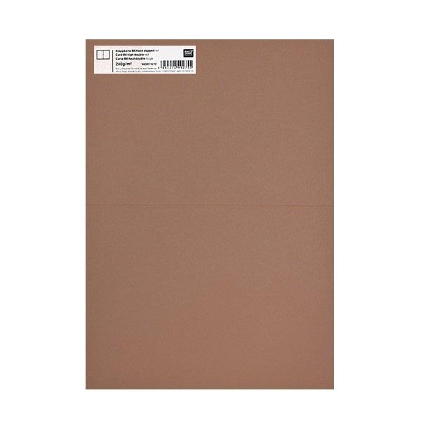 Картичка цветен картон RicoDesign, PAPER POETRY, HB6, 285g Картичка цветен картон RicoDesign, PAPER POETRY, HB6, 240g, MOCCA