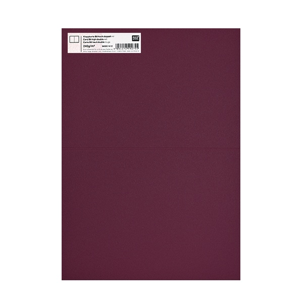 Картичка цветен картон RicoDesign, PAPER POETRY, HB6, 285g Картичка цветен картон RicoDesign, PAPER POETRY, HB6, 240g, BORDEAUX