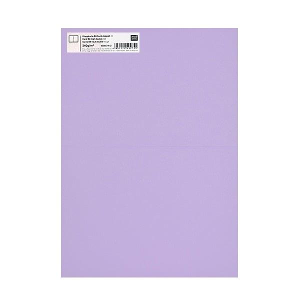 Картичка цветен картон RicoDesign, PAPER POETRY, HB6, 285g Картичка цветен картон RicoDesign, PAPER POETRY, HB6, 240g, FLIEDER