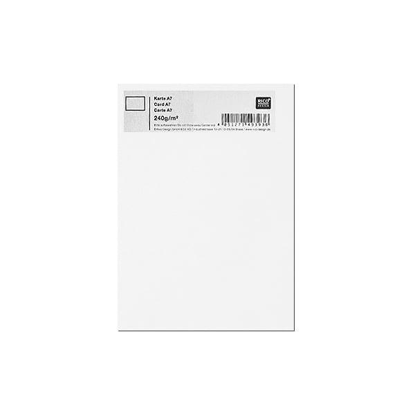 Картичка цветен картон RicoDesign, PAPER POETRY, А7 Картичка цветен картон RicoDesign, PAPER POETRY, А7, 240g, HWEISS