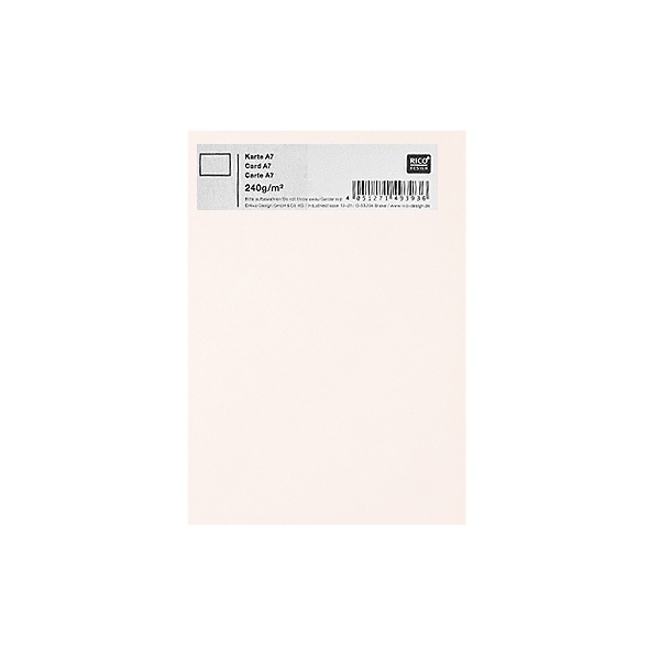 Картичка цветен картон RicoDesign, PAPER POETRY, А7 Картичка цветен картон RicoDesign, PAPER POETRY, А7, 240g, WEISS