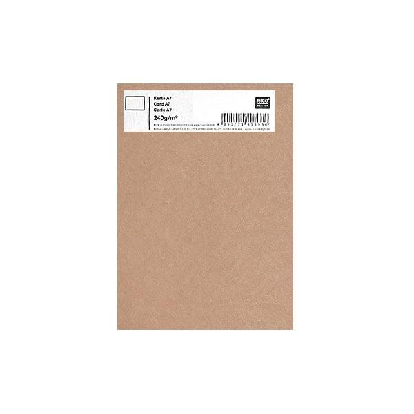 Картичка цветен картон RicoDesign, PAPER POETRY, А7 Картичка цветен картон RicoDesign, PAPER POETRY, А7, 240g, CAPPUCCINO