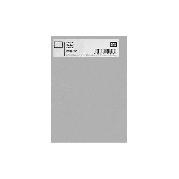 Картичка цветен картон RicoDesign, PAPER POETRY, А7 Картичка цветен картон RicoDesign, PAPER POETRY, А7, 240g, SILBERGRAU